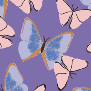 Butterfly pattern - Dahlia Purple