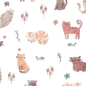 Doodle Cats - Large repeat