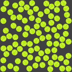 Tennis Ball Print on Grey Background