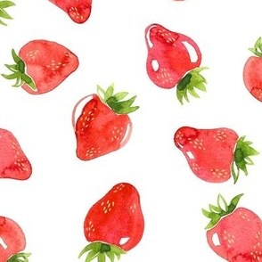 Watercolor Strawberries - Large Scale