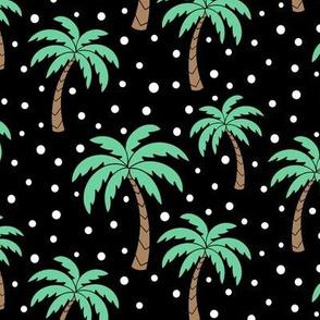 Palm trees - black