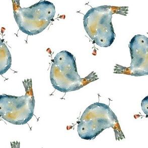 Tehillah - watercolor birds.
