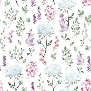 Watercolor Wildflowers - BIG