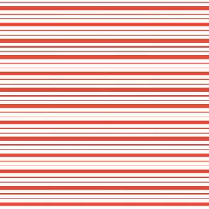 Striped Tea Towel, Red