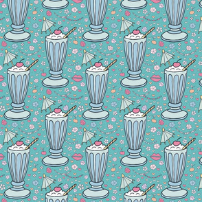 french riviera sundae on teal medium