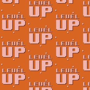 level up // orange and pink