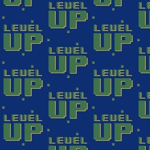 Level up // blue and green