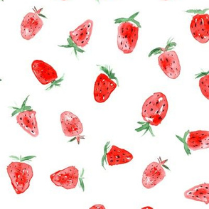 So sweet strawberry ★ watercolor berries for modern cute nursery, kitchen, home decor