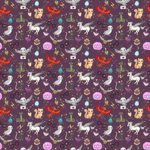Wizard School Pets dark purple