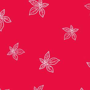 Baobab Leaf on Red  by The Good Mood Factory