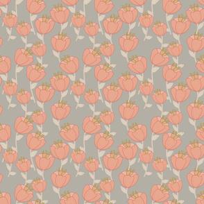 Contemporary Poppies - Grey