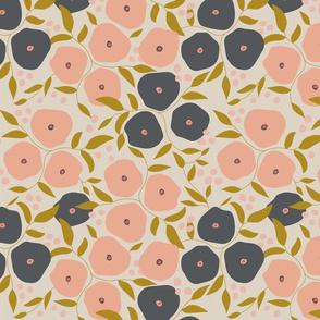 Spring Poseys - Cream