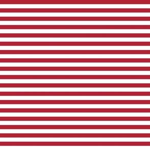 Small Horizontal USA Flag Red and White Stripes