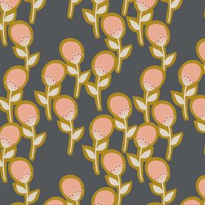 Contemporary Blossom 1 - Charcoal