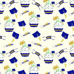 Covid Graduation 2021 Blue and Gold TP