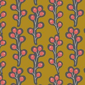 Contemporary Berries - Mustard