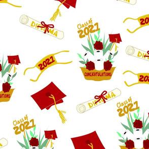 Covid Graduation 2021 Burgundy Gold