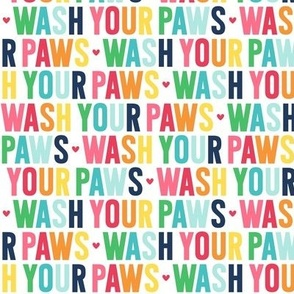 wash your paws rainbow with navy UPPERcase