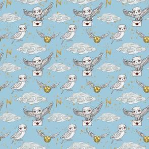 Cute Owls blue