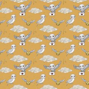 Cute Magical Owls yellow