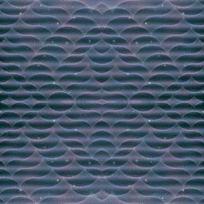 Pastel Space Waves Mirror