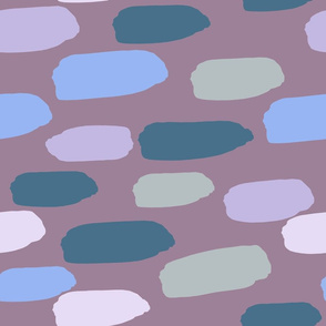 horizontal dash -- muted mauves and blues