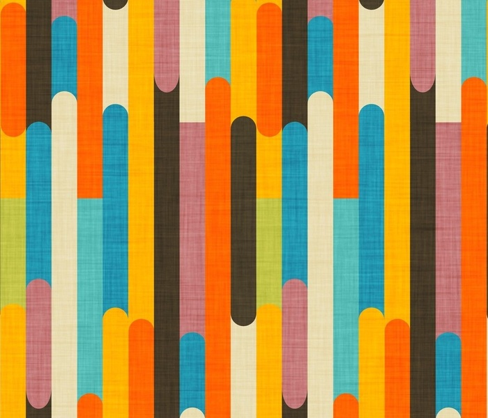 Retro Color Block Popsicle  Sticks Orange
