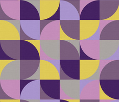 retro mod mustard yellow purple violet lavender