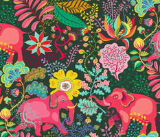 floral jungle elephants