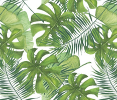 Watercolor Tropical Leaf Pattern